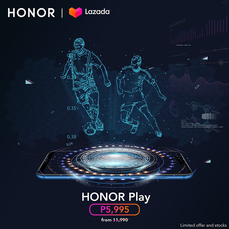 Lazada HONOR Play massive sale!