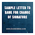 Sample letter to bank for change of signature