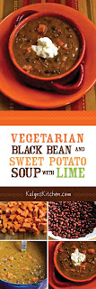 Vegetarian Black Bean and Sweet Potato Soup with Lime found on KalynsKitchen.com