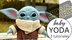 Cómo tejer Amigurumi Baby Yoda | 3 Tutoriales en Español