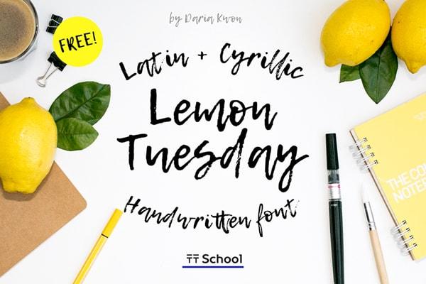 Brush font terbaik 2017 - Lemon Tuesday – Free Brush Font