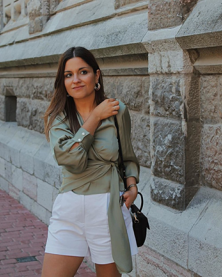 Top verde cruzado zara blog moda