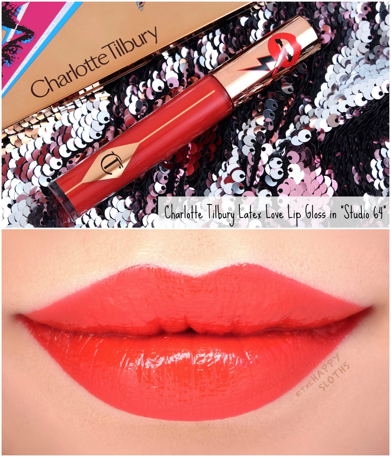 "Charlotte Tilbury | Latex Love Long-Lasting Lip Gloss in ""Studio 64"": Review and Swatches"