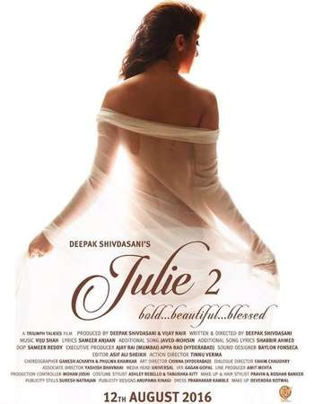 Julie 2 2017 Hindi Movie Pre-DVDRip x264 700MB watch Online Download Full Movie 9xmovies word4ufree moviescounter bolly4u 300mb movie