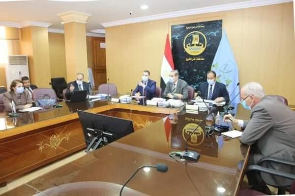 محافظ كفر الشيخ يناقش مؤشرات الوضع السكاني بالمحافظة