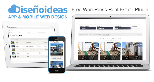 Free WordPress Real Estate Plugin. disenoideas website designers marbella social media marketing marbella