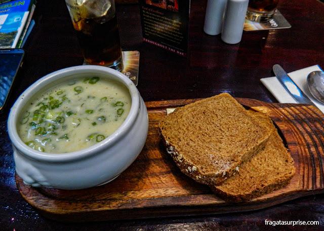 Seafood Chowder, prato típico da Irlanda