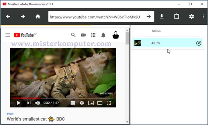 Cara Download Video Youtube Menggunakan MiniTool uTube Downloader
