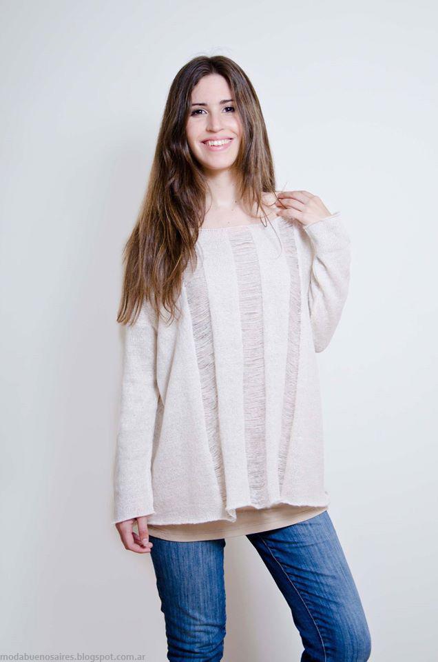 Sweaters tejidos abrigados invierno 2016 Lares.