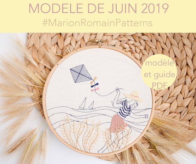 modèle de broderie juin 2019 - Vent d'été - #MarionRomainPatterns