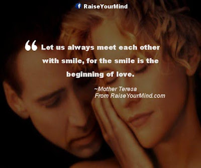 Smile happiness Quotes:let us always meet each other with smile, for the is the beginning of love.