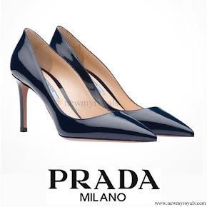 Crown Princess Mette Marit wore PRADA Royal Blue Pumps