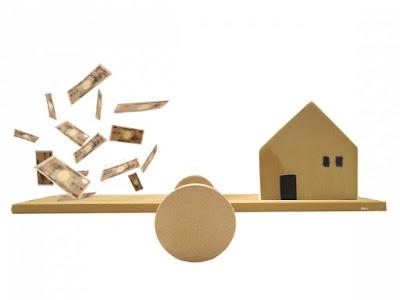 不動産投資イメージ、お金と家