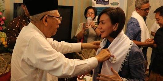 Bertemu Ma'ruf Amin, Wanda Hamidah Bahas Pendidikan Pesantren dan Budaya