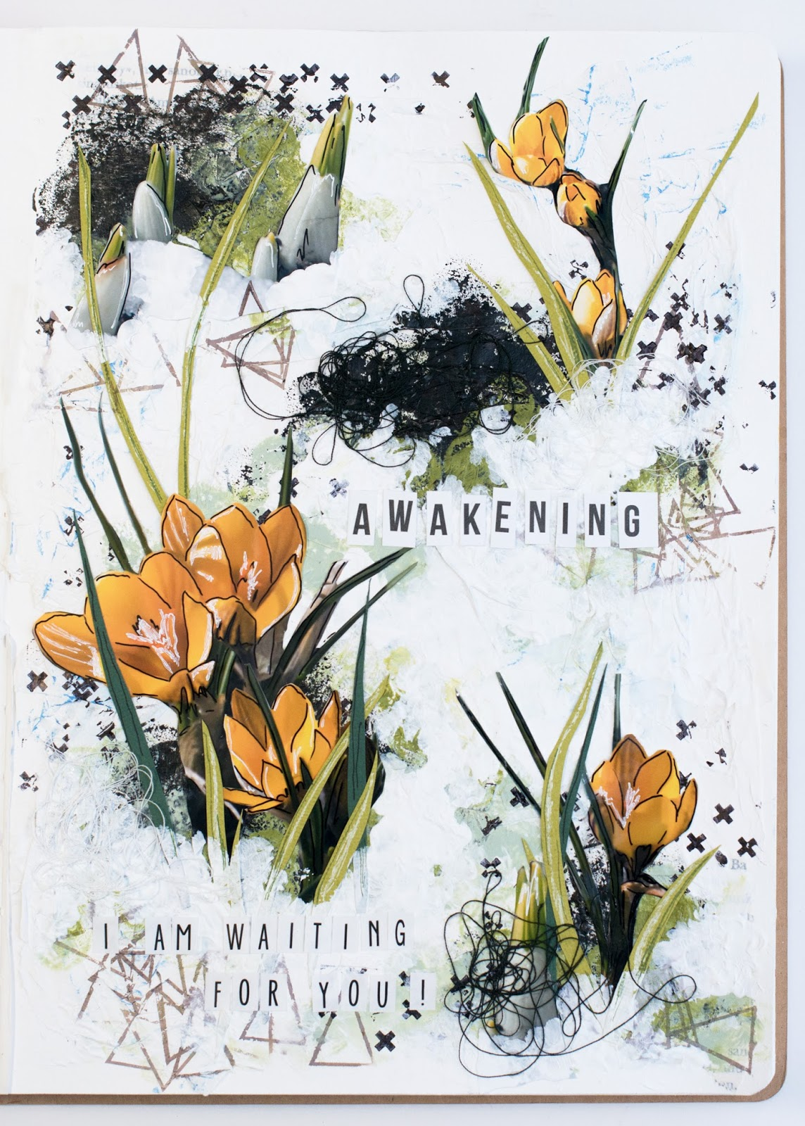 Art Journal page: Awakening
