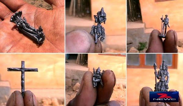 பென்சில் நுனியில் தெய்வங்கள், தலைவர்களின் சிற்பங்கள் வடிவமைப்பு