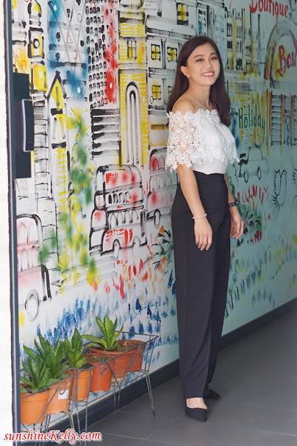 The Ground Floor Wall Mural, city Staycation, Bloommaze Boutique Hotel, Hotel in Puchong, Hotel Review, Boutique Hotel Review, ootd, hotel