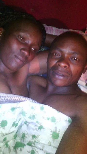 Kenyan Born Again Christain Shared Photo of Himself and His Wife on Bed