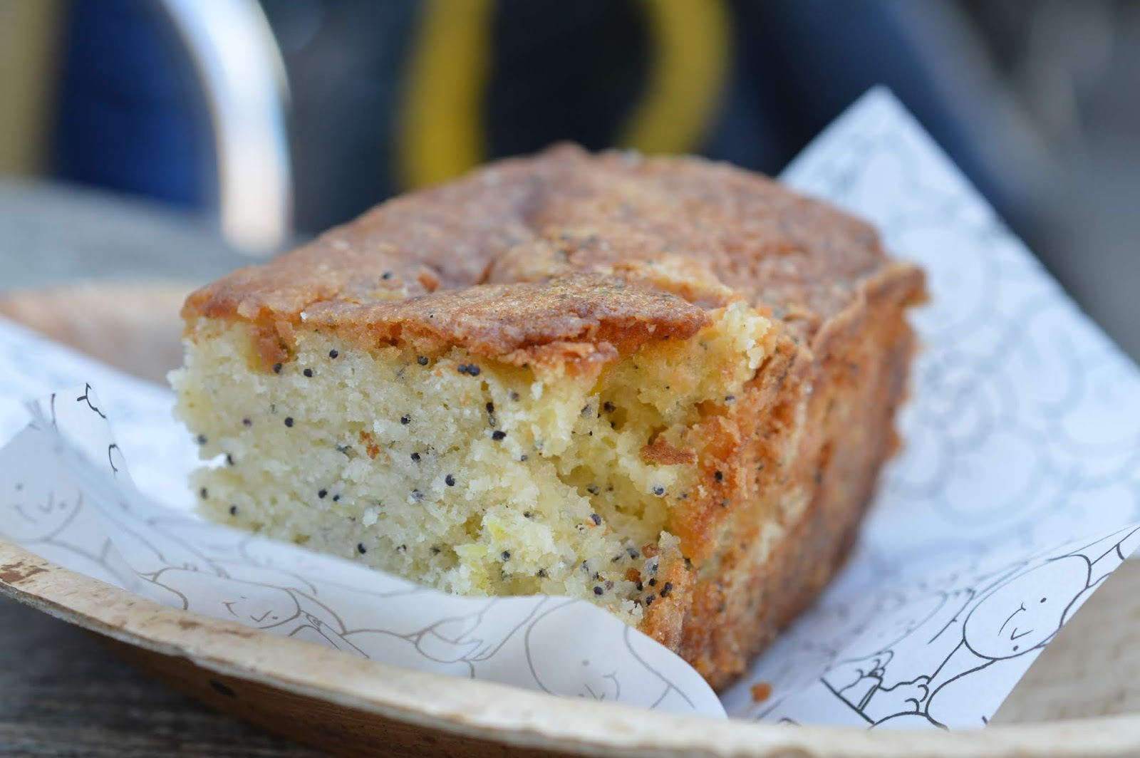 The Holy Island of Lindisfarne, Northumberland - what to see and do during a half day visit - lemon and poppy seed cake