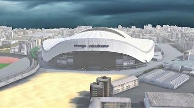 PES 2017 Stadium Stade Vélodrome with Exterior View