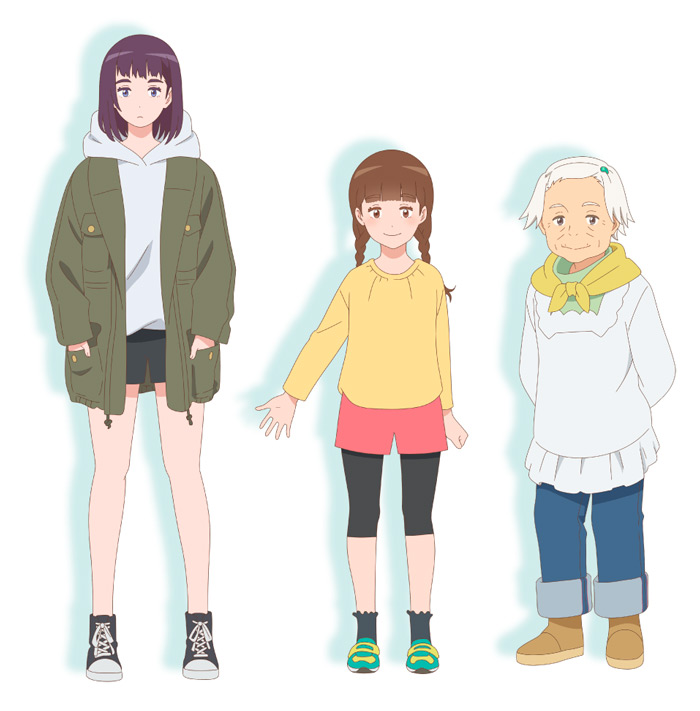 Misaki no Mayoiga (The House of the Lost on the Cape) anime film - personajes