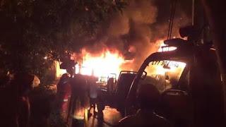 Gudang Gas Elpiji di Siantar Terbakar, 4 Orang Sekeluarga Tewas, 1 Masih Dicari