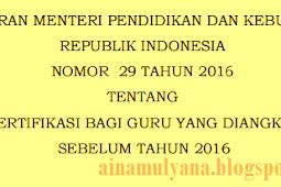 [Download] Permendikbud No 29 [Tahun] 2016