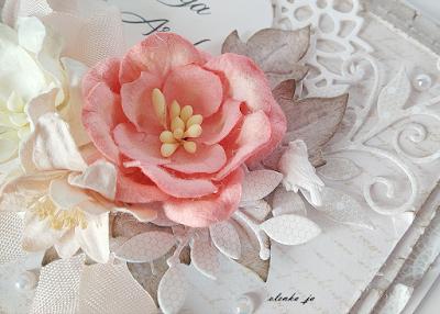 Ślubna kartka koronkowa