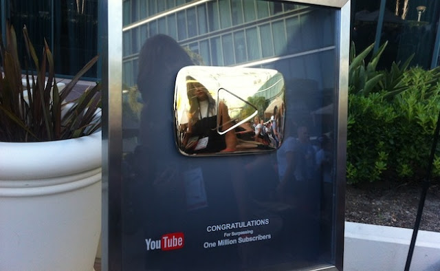 Gold Youtube Play Button
