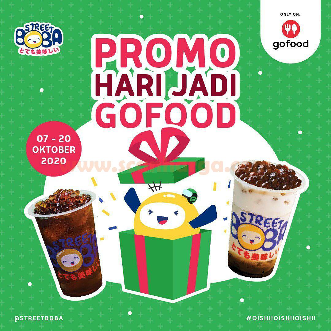 Promo Street Boba 7 - 20 Oktober 2020 - Promo Hari Jadi Gofood*