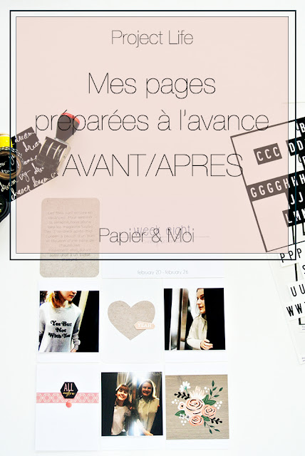 Project Life - Exemples de pages