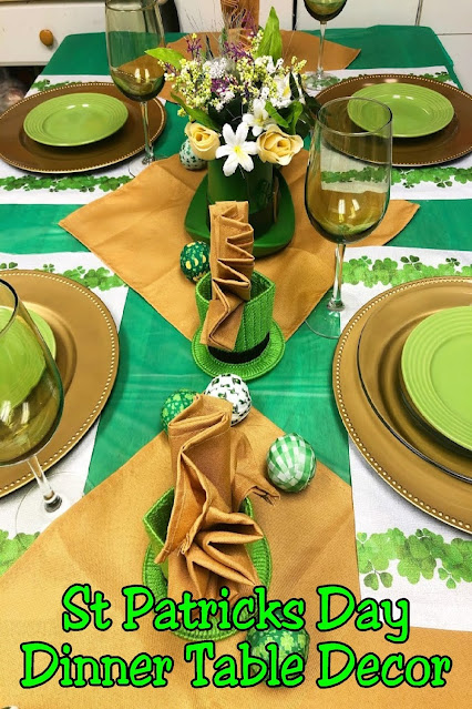 Have fun this St Patrick's day with this simple yet elegant table decor from Dollar Tree.  It's a fun way to celebrate the holiday and make memories with the kids.