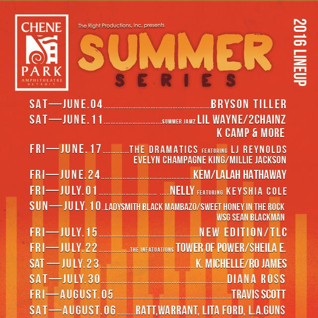 Motorcityblog Upcoming The 2016 Chene Park Summer Series