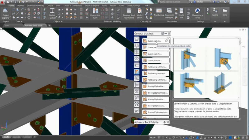 برنامج Autodesk Advance Steel 2019