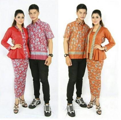 15 Desain Baju Batik Couple Anak Muda Model Terbaru 2020