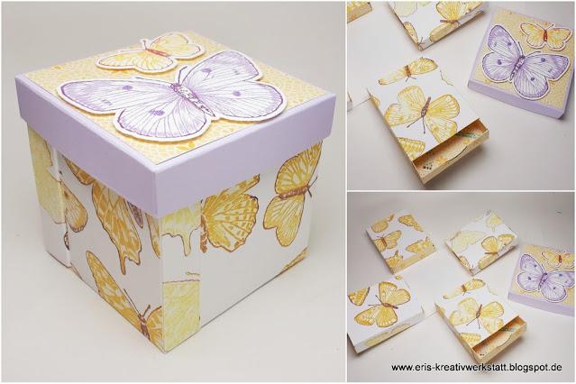 """Schubladen-Explosionsbox mit """"Butterfly Brilliance"""" Schmetterlingen Stampin' Up! www.eris-kreativwerkstatt.blogspot.de"""