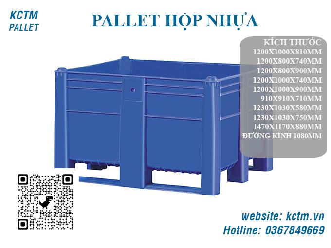 KCTM Pallet báo giá sỉ Pallet hộp nhựa
