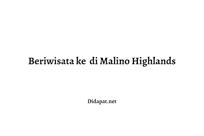 Beriwisata ke  di Malino Highlands