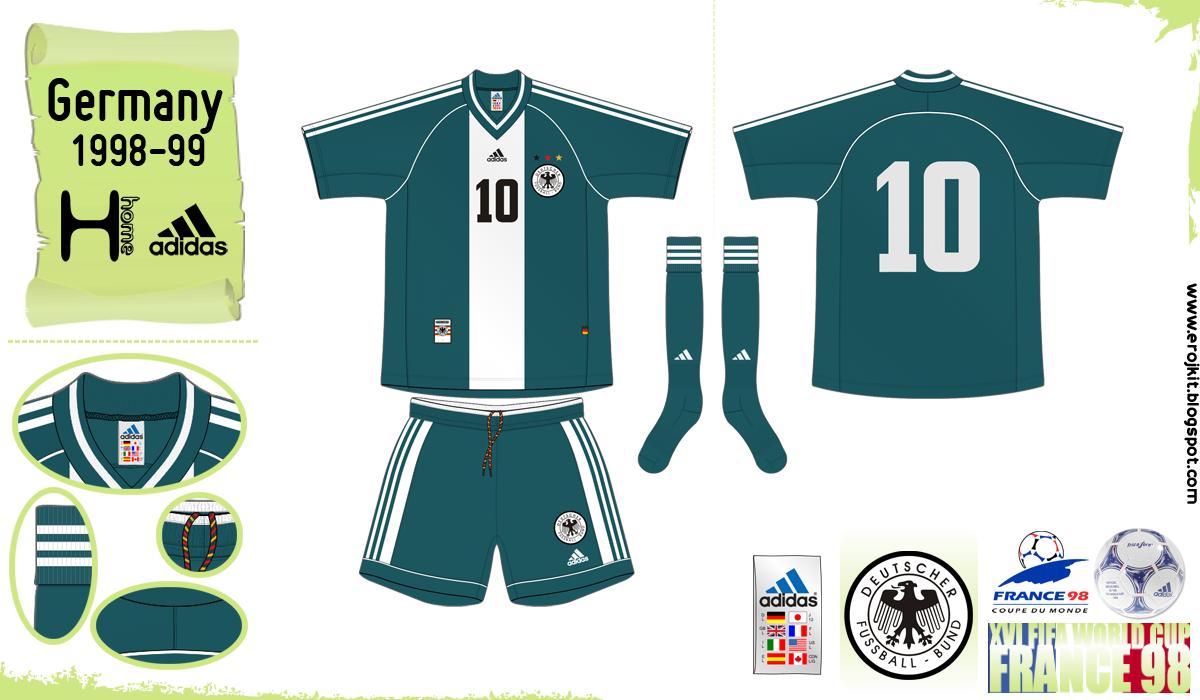 O Away kit foi usado em duas combinações mas nenhum deles na Copa de 1998. 218ffaa8ce11e
