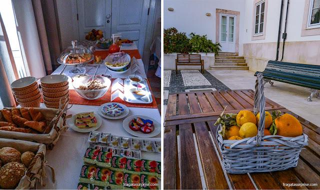 café da manhã do Hotel Solar Cerca do Mosteiro Alcobaça, Portugal