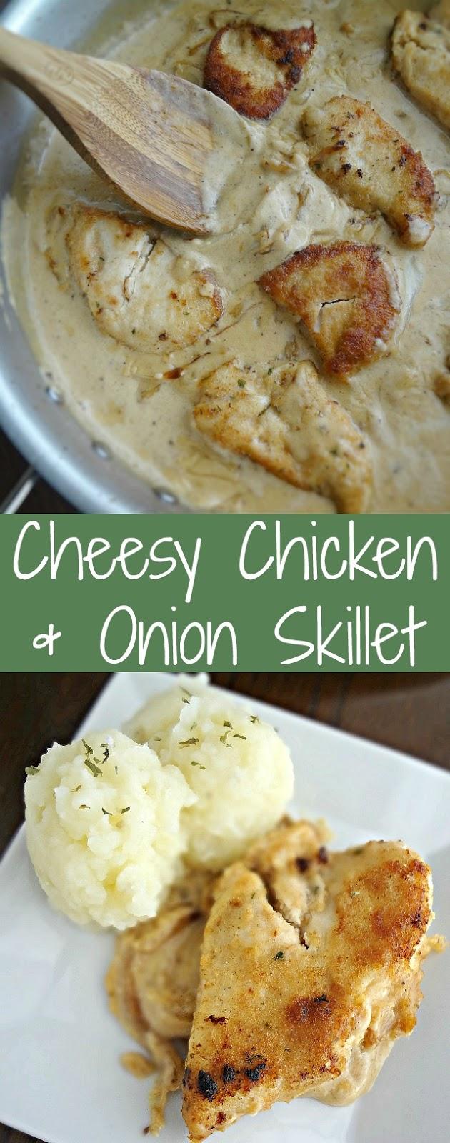 Cheesy Chicken & Onion Skillet