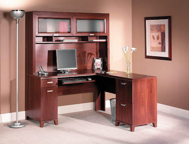 wood home office desk cabinets for sale cheap