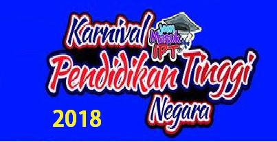 Tarikh dan lokasi Karnival Pendidikan Tinggi Negara 2018 (KPTN)