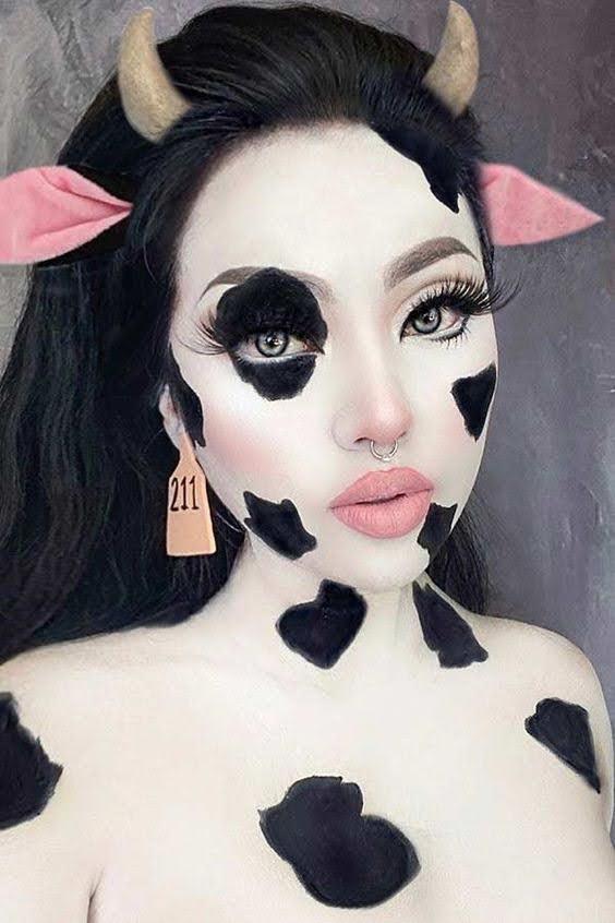 cow Halloween makeup