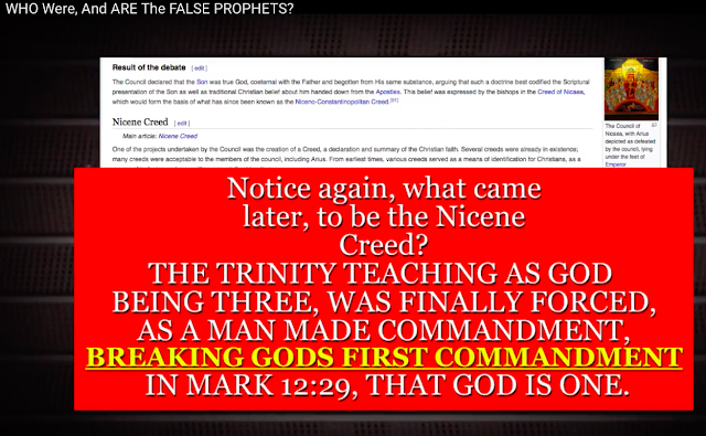 The Trinity breaks the first commandment in Mark 12:29.