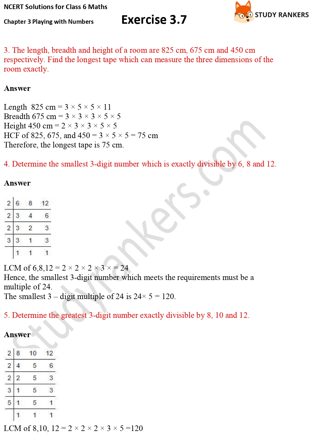 NCERT Solutions for Class 6 Maths Chapter 3 Playing with Numbers Exercise 3.7 Part 2