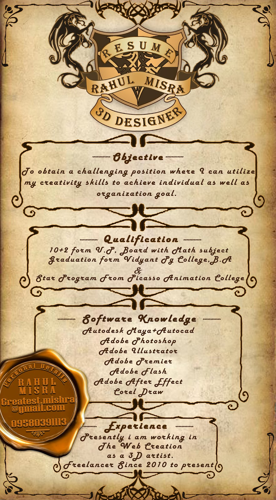 Theatre Resume Guidebook - Pace University resume for 3d lighting ...