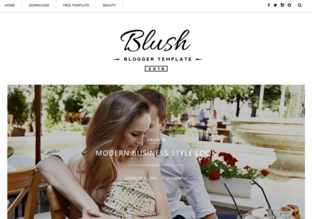 Blush Multipurpose Blogger Template Full Version Free Download