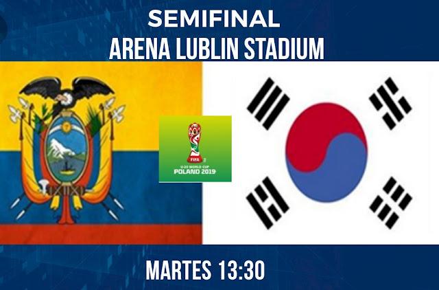Horario del partido Ecuador vs Corea
