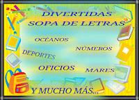 DIVERTIDAS SOPA DE LETRAS